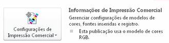 configurações de impressão comercial no publisher 2010