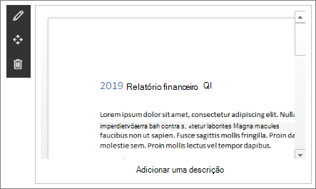 Web Part do Visualizador de arquivos em exemplo de site de destino corporativo moderno no SharePoint Online