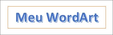 Exemplo de WordArt