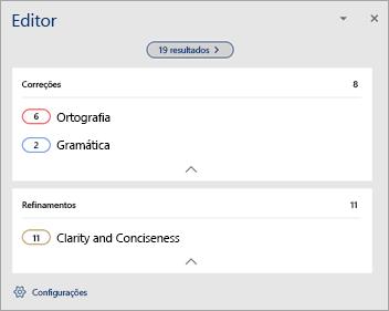 Mostrando Visão geral dos problemas de revisão de texto