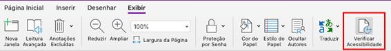 Ferramenta de verificação de acessibilidade do OneNote para Mac