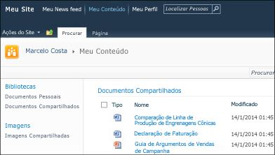 Meu Site do SharePoint 2010