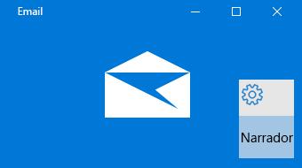 Visão geral do Narrador e do Email para Windows 10
