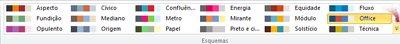 Mais esquemas de cores no Publisher 2010