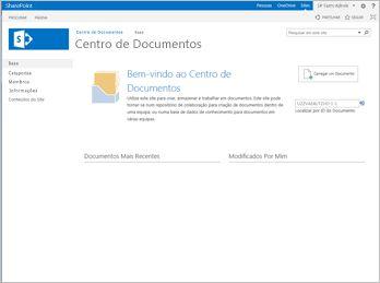 Modelo de Site do Centro de Documentos
