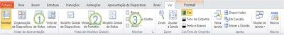 separador ver no friso do powerpoint 2010.