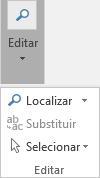Selecione Formatar Texto e, em seguida, Editar para abrir a lista pendente