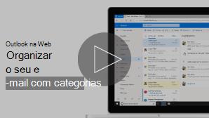 Imagem em miniatura do separador organizar e-mail com categorias