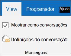 Ver mensagens por conversação.