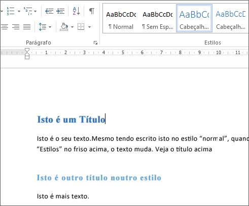 Estilos do Word