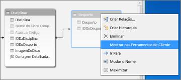 mostrar nas ferramentas de cliente