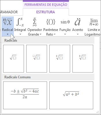Estruturas matemáticas com radicais