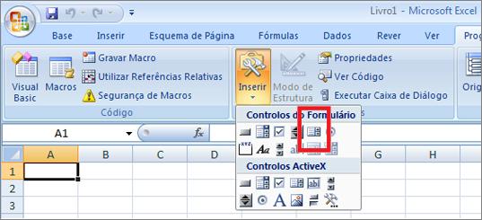 controlos de formulários