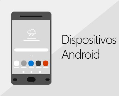 Clicar para configurar o Office e o e-mail em dispositivos Android