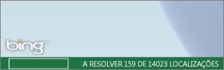 Estado do Power Map na barra do Bing