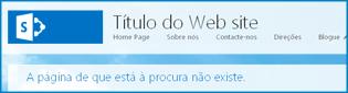 Captura de ecrã da Home page predefinida de um Web site Público no SharePoint Online