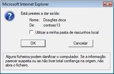 Mensagem de registo de saída do ficheiro do SharePoint