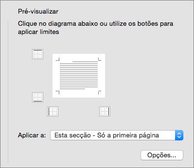 É apresentada a caixa Pré-visualização na caixa de diálogo Limites e Sombreado