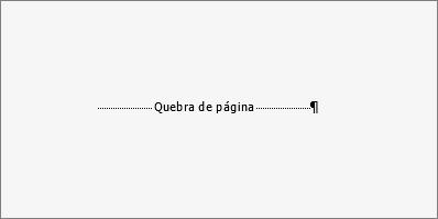 Mostra o exemplo de uma quebra de página.