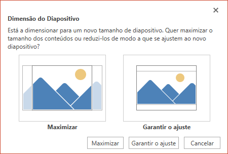 Selecione Maximizar para tirar maior partido do espaço disponível ou selecione Garantir o Ajuste para se certificar de que os conteúdos se ajustam à página vertical