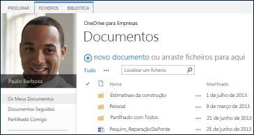 OneDrive para Empresas do SharePoint 2013