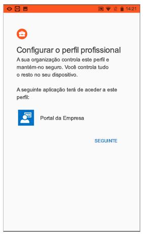 Configurar um perfil de trabalho