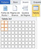 Inserir tabela