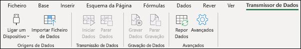 Separador do Friso de Streamer de dados do Excel