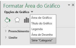 Seleção de opções da série de gráficos do mapa do Excel