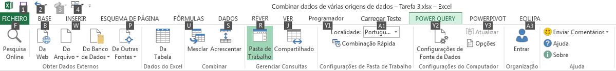 Informações de Teclas de Atalho do Explorador de Dados 2