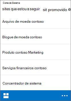 iOS seguir sites