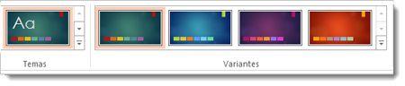 Separador Estrutura: temas com variantes