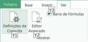 Informações de Teclas de Atalho do Editor de Consultas
