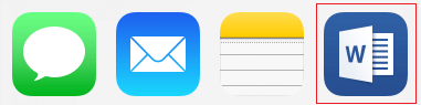 Ícones de aplicação
