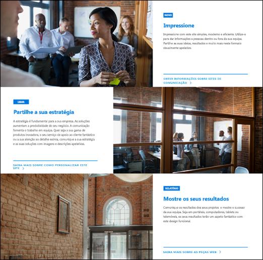 Peça Web destacão do SharePoint