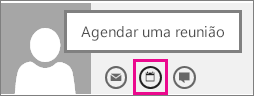 Botão Agendar uma reunião no Outlook Web App