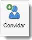 O ícone Convidar é apresentado no separador Organizador de Reunião.