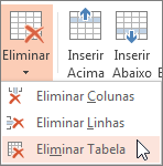 Eliminar uma tabela