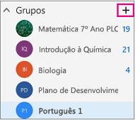 Painel de navegação esquerdo no Outlook na Web com o botão Criar realçado