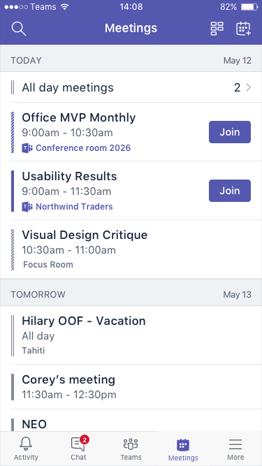 Próximas reuniões