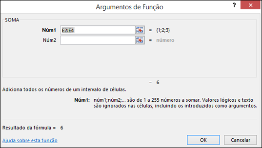 Assistente de Funções do Excel