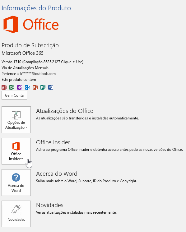 Office Insider in-app opte por.