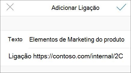 Imagem do menu Adicionar ligação