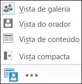 Captura de ecrã de escolher uma vista com a Vista de Galeria selecionada