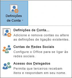 Captura de ecrã da ação de adicionar um delegado no Outlook