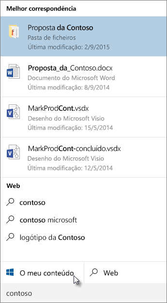 Pesquisa do ambiente de trabalho do Windows