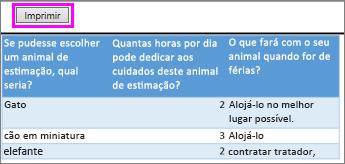 Pré-visualização de perguntas e respostas da pesquisa