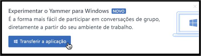 Mensagens no produto para Windows