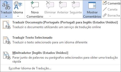 Traduzir um documento ou mensagem
