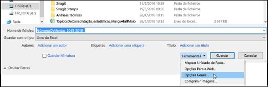 Verificar o nome de ficheiro correto